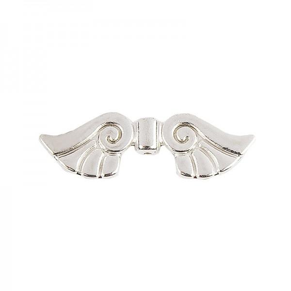 Engelsflügel, Design 2, 2,3cm, silber, 20 Stück