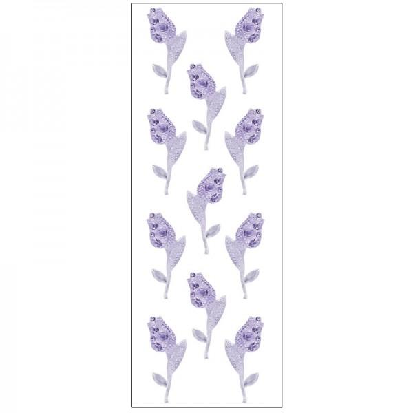 Kristallkunst, Tulpe, selbstklebend, 10cm x 30cm, flieder