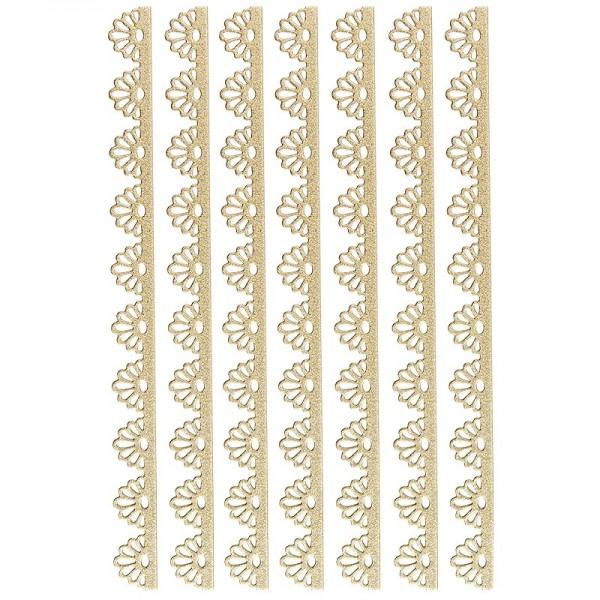 "3-D Sticker-Bordüren ""Deluxe Ornament 1"", selbstklebend, gold"