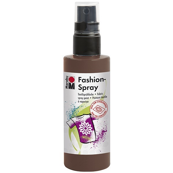 Marabu Fashion-Spray/Textil-Sprühfarbe, 100ml, kakao