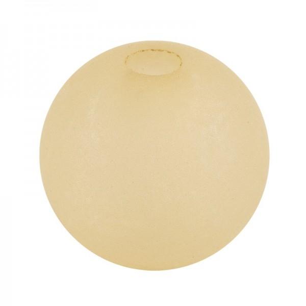 Perlen, gefrostet, Ø 6mm, 150 Stück, creme