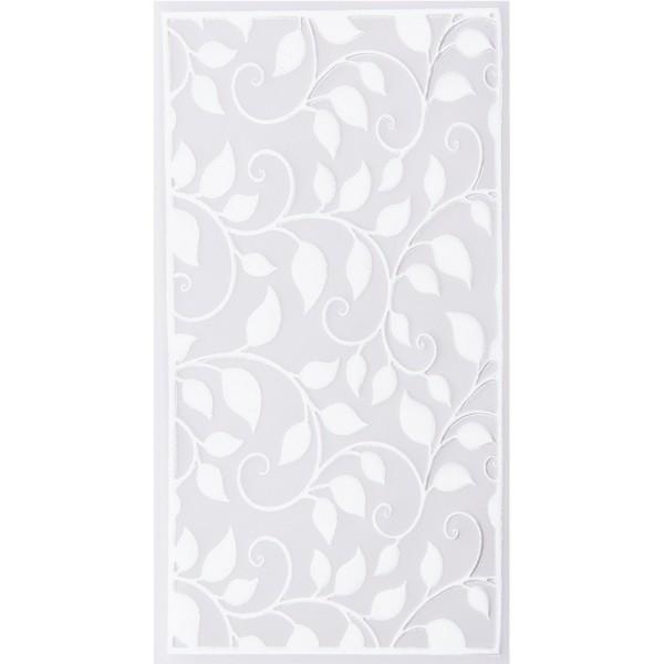 Noblesse Zierdeckchen 5, Transparentpapier, 13,5cm x 8,5cm, weiß, 20 Stück