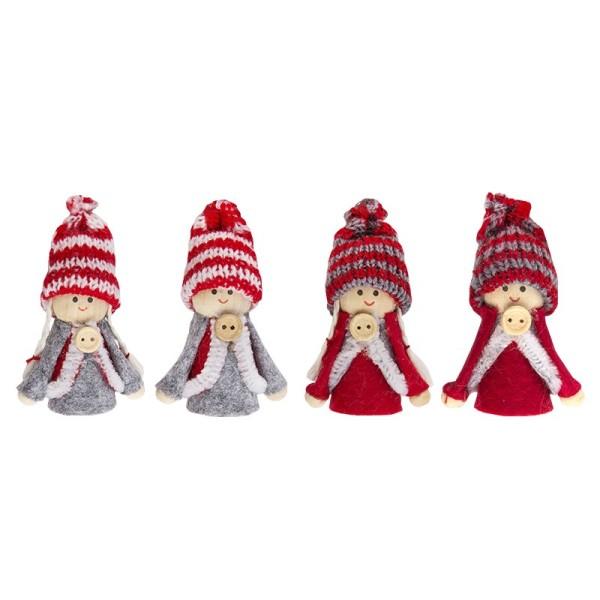 Winter-Püppchen, Sofie & Piet, 7cm hoch, 4 Stück