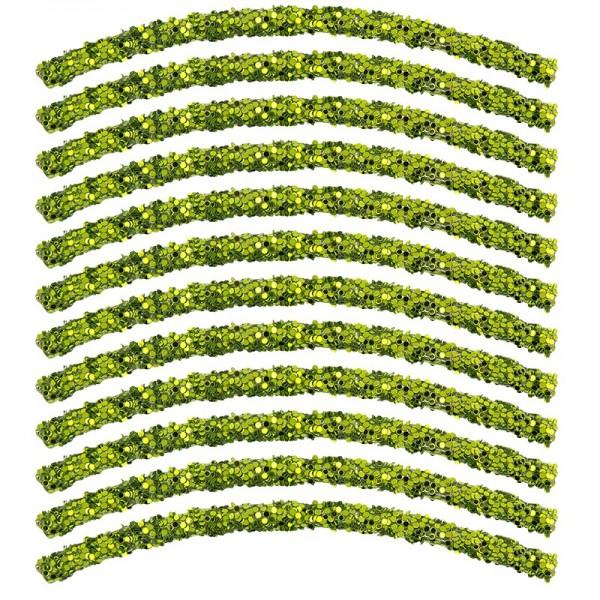 Glitzer-Tubes, flexibel, 10cm lang, Ø 0,5cm, grün, 12 Stück