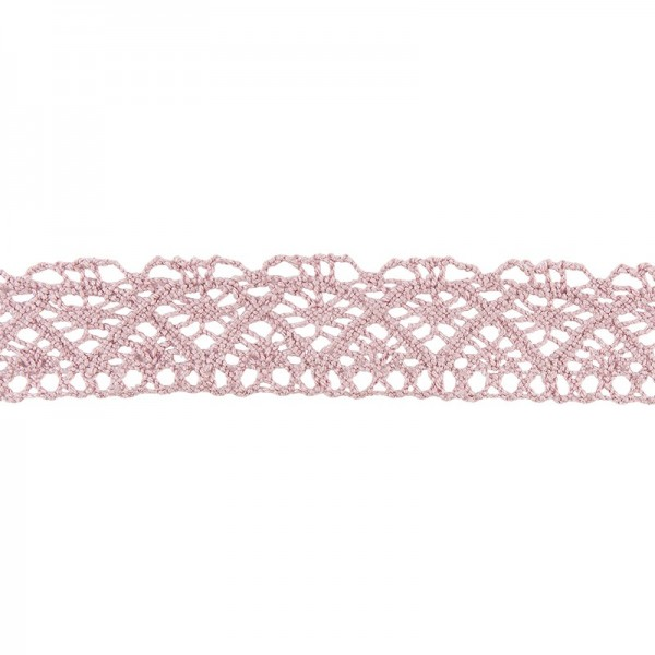 Häkelspitze Design 1, 2,1cm breit, 2m lang, altrosa