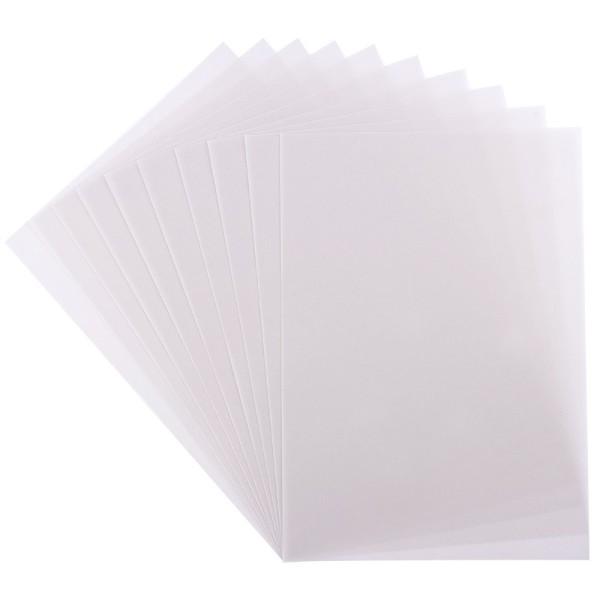 Transparentpapiere, DIN A4, 10 Stück, 170g/m², weiß