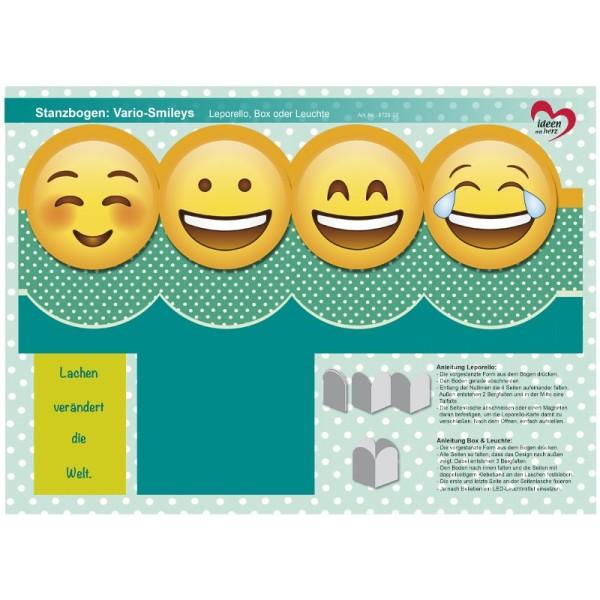 Stanzbogen, Vario-Smileys, DIN A4, Design 7