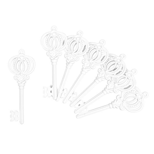 Deko-Schlüssel, Rohlinge, 6cm x 16,4cm, 7 Stück