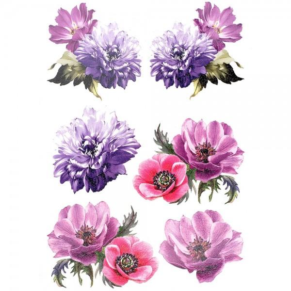 Color Bügeltransfers, Glitzer, DIN A4, Blüten