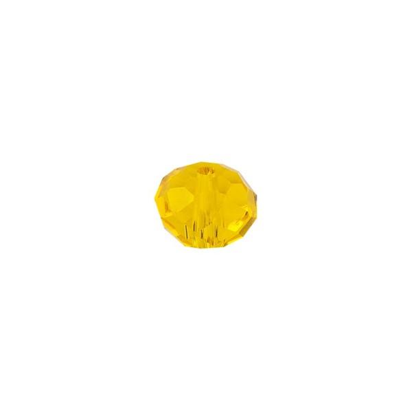 Perlen, Rondelle, facettiert, 0,6cm x 0,4cm, goldgelb, 30 Stück