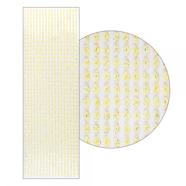 Schmuckstein-Bordüren, selbstklebend, facettiert, irisierend, 29cm, Navette, gelb