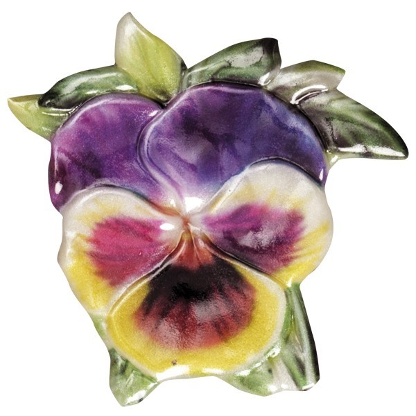 Wachsornament Blütenpracht 1, farbig, geprägt, 7cm