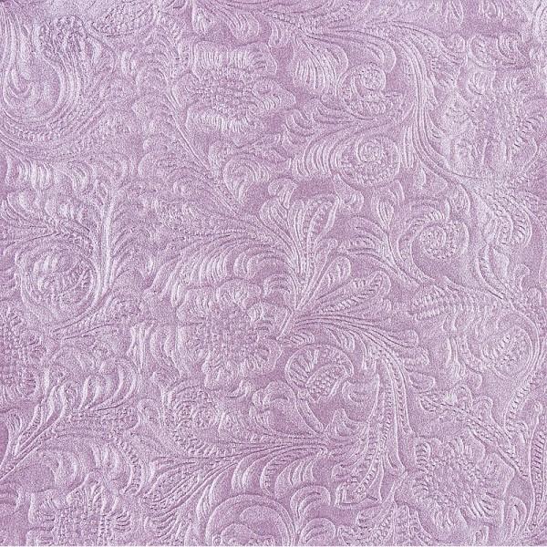 Design Faltpapier, Blütenornamentik, 10 cm, 100 Stk, perlviolett