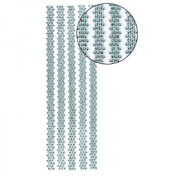 """Premium-Schmuck-Bordüren """"Royal"""", selbstklebend, 29cm, mit Glas-Kristallen, mint"""
