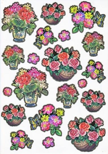 Ultra Gloss Sticker Bogen, Margeritten & Rosen