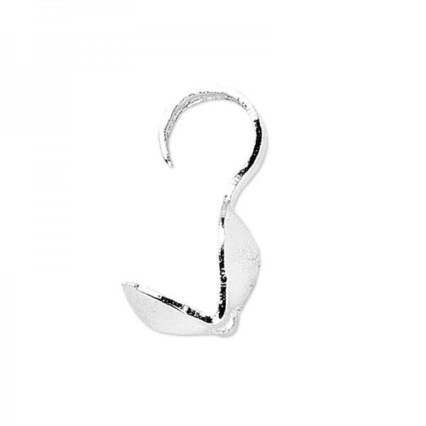 Quetschkalotten, Ø Kugel: 3mm, Länge mit Haken: 8mm, silber, 100 Stück