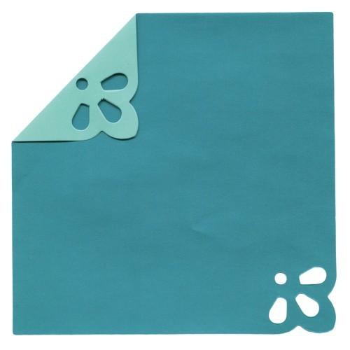 DuoColor Stanz-Faltpapiere, 15 x 15 cm, türkis, 2 Ecken, 60 Blatt