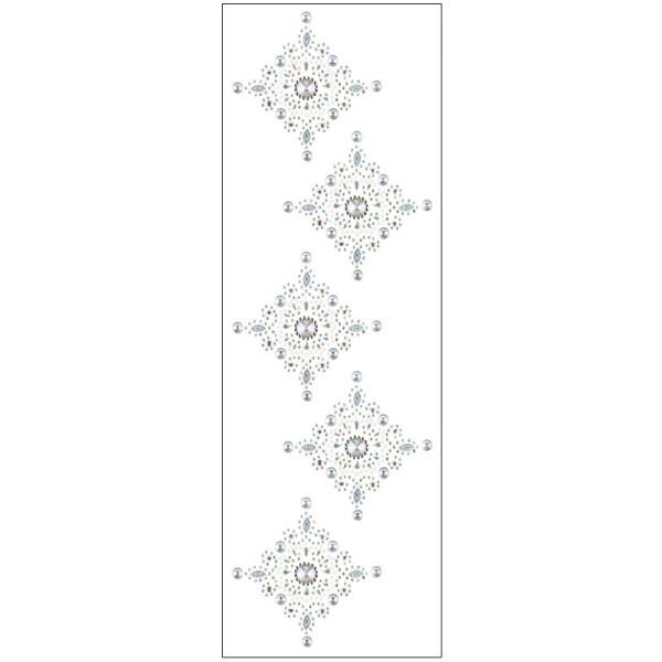 Kristallkunst, Ornament 7, 10cm x 30cm, selbstklebend, klar irisierend, perlmutt