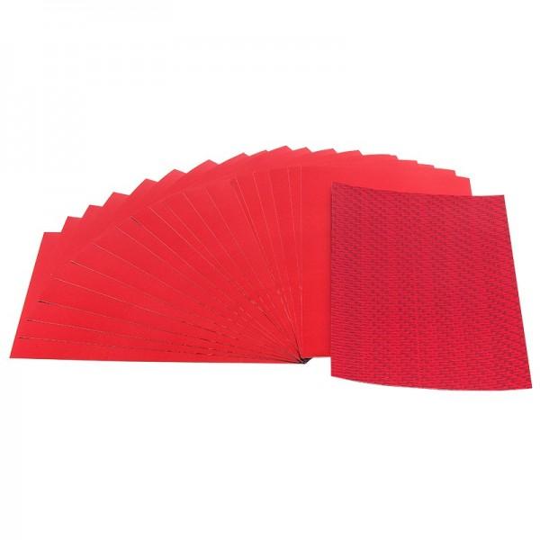 Doppel-Folien, Laser- & Spiegeleffekt, 10cm x 15cm, rot, 20 Stück