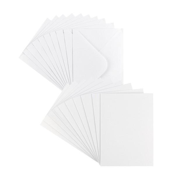 Grußkarten, Perlmutt, B6 (11,5cm x 16,5cm), weiß, inkl. Umschläge, 10 Stück
