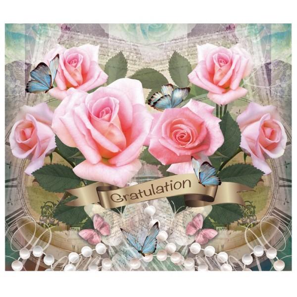 """Zauberfolien """"Gratulation 2"""", Schrumpffolie für Ø 9cm, 24cm hoch, 2 Stück"""