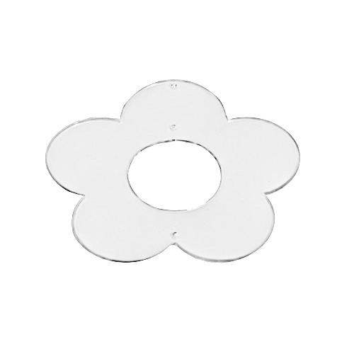 Acryl-Anhänger, Blume, 8 x 8 cm