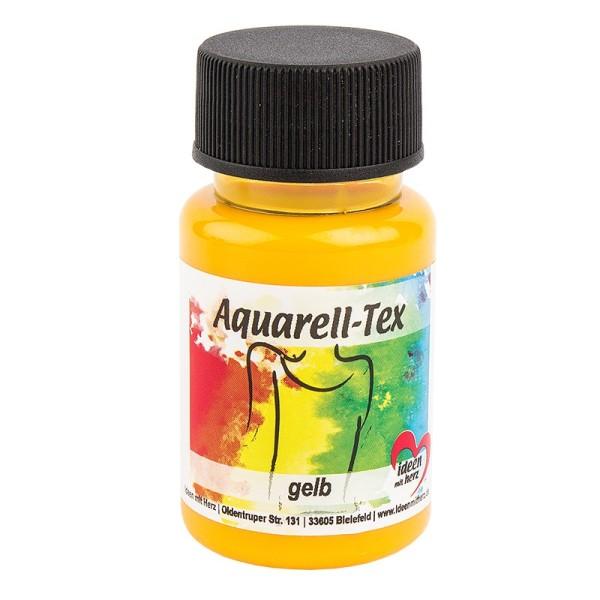 Textilfarbe, Aquarell-Tex, 50ml, gelb