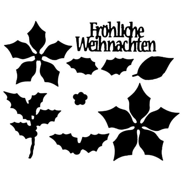 Präge-& Stanzschablonen, 3-D Weihnachtsstern, 9 Stück