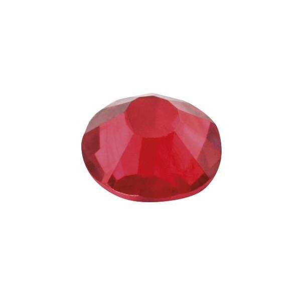 Hot-Fix Glas-Kristalle zum Aufbügeln, Ø4mm, 300 Stk., rubin