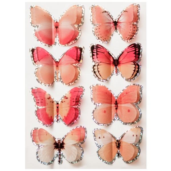 "Pop-Up Hologramm-Sticker ""Schmetterlinge"", Design 12"