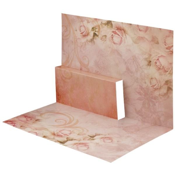 Pop-Up-Grußkarten-Einleger, gefaltet 11 x 15,5 cm, Rosen 2