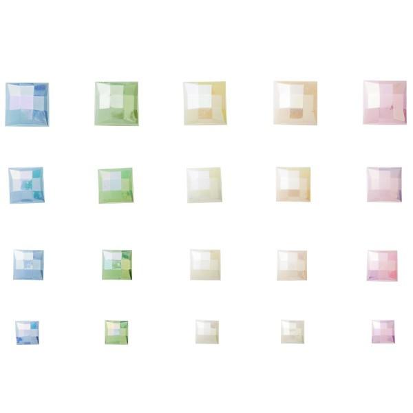 Facetten-Mosaiksteine, perlmutt-irisierend, 20er Set