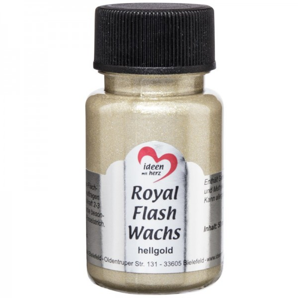 Royal Flash Wachs, Glitzer-Metallic-Farbe, 50 ml, hellgold