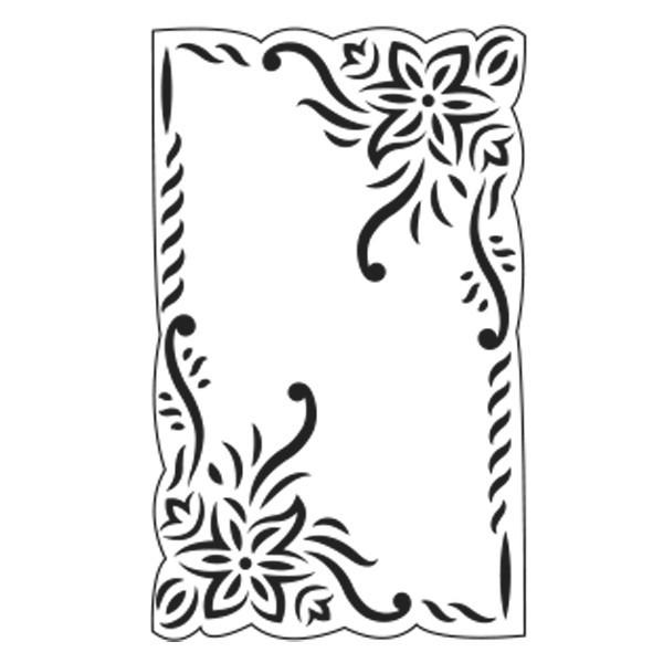 Präge-/Prickelschablone, 14,5 x 9 cm, Design 7