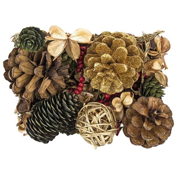Edel-Potpourri, Weihnachten 2, 200g, hellgold, grün, rot, braun
