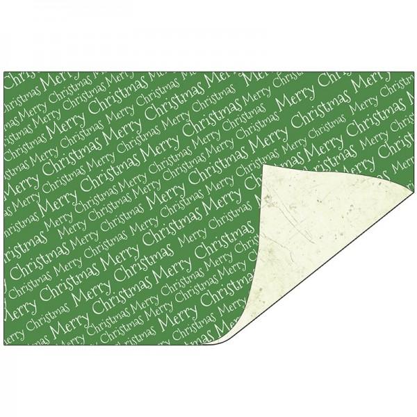 Faltpapiere Duo-Design 24, 10x15 cm, Merry Christmas/hellgrün, 50 Stück