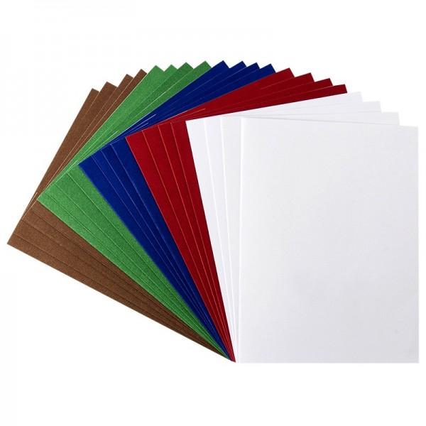 Karteneinleger, 13,5cm x 10cm, kräftige Farbtöne, 20 Stück
