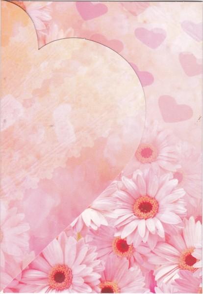 Motiv-Magnet-Karte Herz, B6, rosa