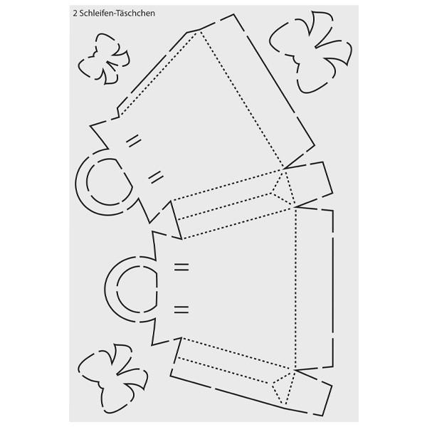 """Design-Schablone """"Schleifen-Täschchen"""", DIN A3"""