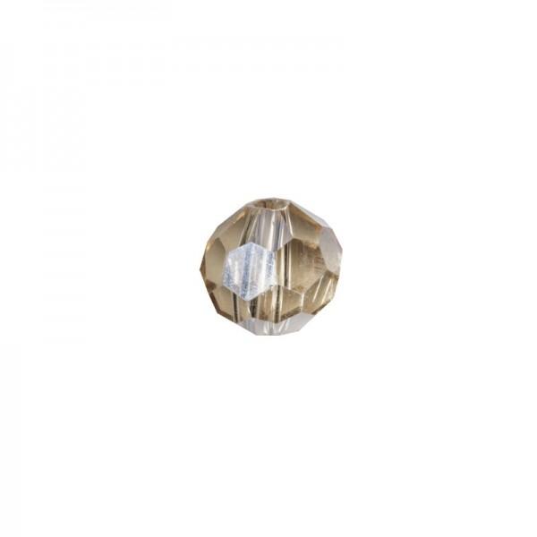 Glas-Perlen, transparent, Ø6 mm, 20 Stück, bernstein-irisierend