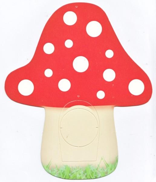 Deko-Bild, Fliegenpilz, ca. 23 x 19,5 cm