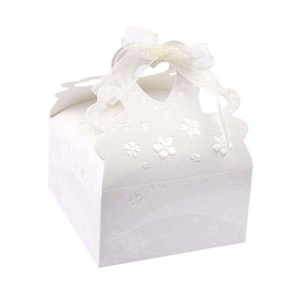 Zier-Faltboxen, Design 1, 9cm x 9cm x 5cm, 10 Stück