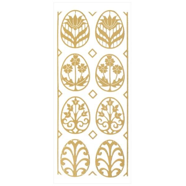 Sticker Schmuck-Ostereier, gold