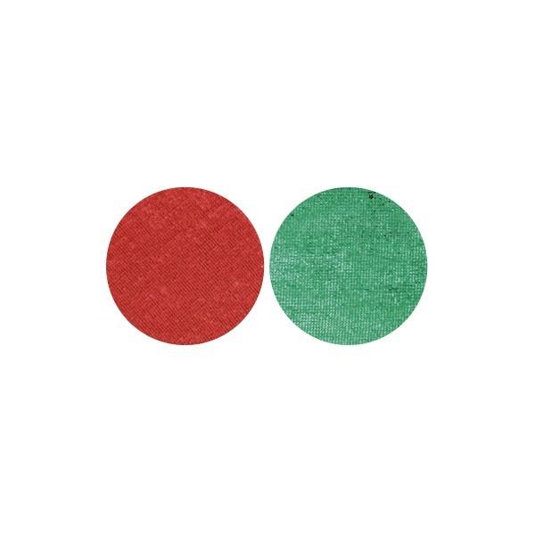 Stoffkreise für Knöpfe mit 16 mm Ø, rot/grün, 50er Set