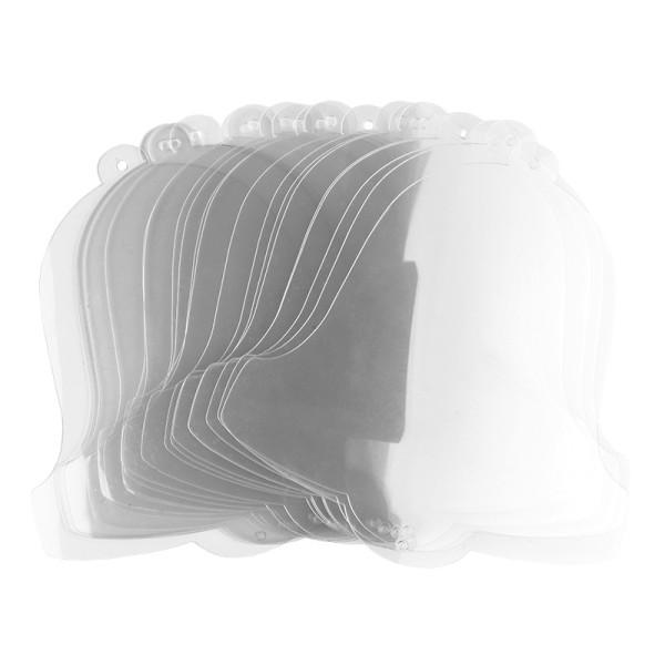 Windradfolien-Scheiben, Glocke, 16cm x 15,3cm, transparent, 500µ, 20 Stück