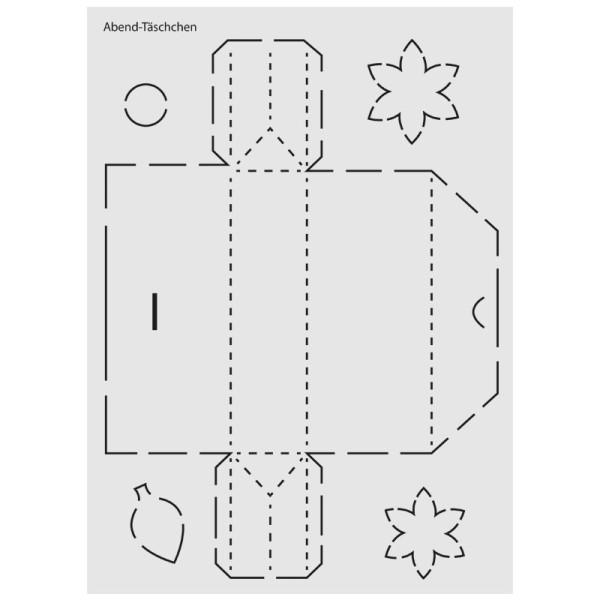 """Design-Schablone Nr. 4 """"Abend-Täschchen"""", DIN A4"""