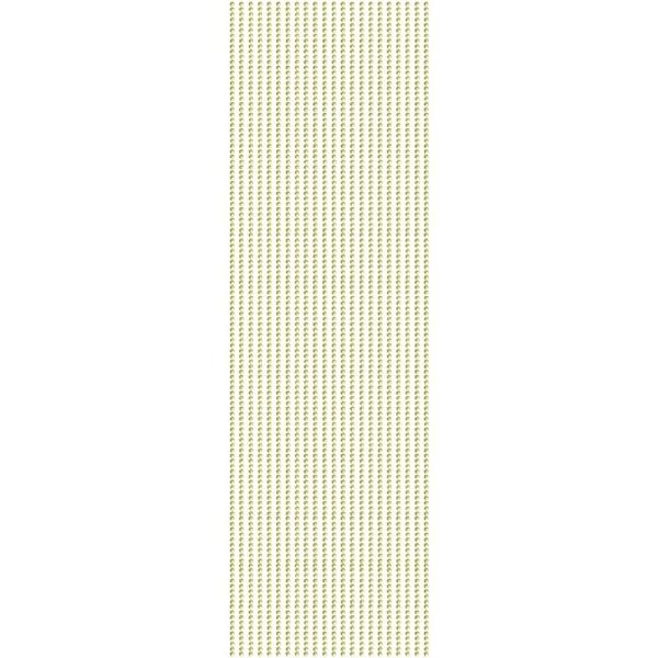 Glitzerstein-Bordüren, selbstklebend, Ø2mm, 29cm, 22 Stk., gelb