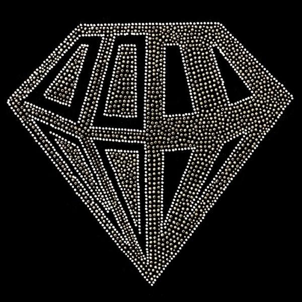 Bügelstrass-Design, DIN A4, mehrfarbig, Diamant