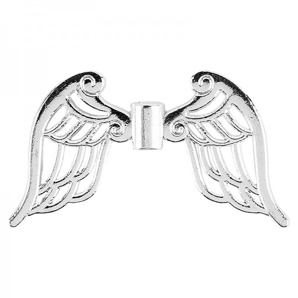 Filigrane Engelsflügel, Design 4, 1,9cm, silber, 30 Stück
