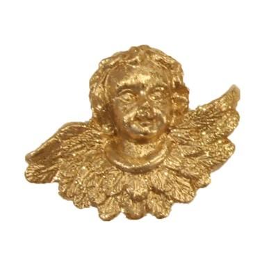 Relief-Engel mit Glimmer, 3 x 4 cm, 12er Set